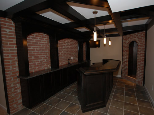 Custom Bar with Bar Back