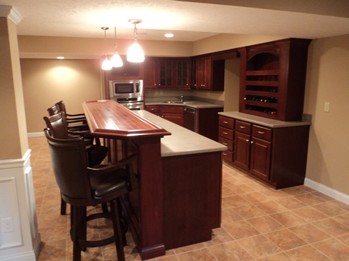 Custom Kitchenette in finished lower level.